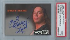 1998 1999 WCW Topps Bret Hart Autograph PSA 9 MINT WWE WWF Auto