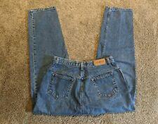 "VINTAGE 90s High Waisted MOM Jeans 30"" Waist 28"" Inseam Tag 14 Short Medium Wash"