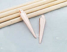 925 Sterling Silver Rose Gold Vermeil Style 2 Spike Charms 4x20 mm.