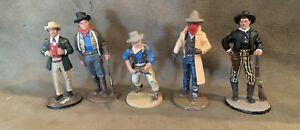 5 Delprado Western Figures 54mm Metal, REDUCED