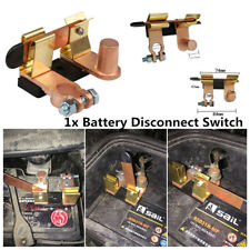 Battery Disconnect Knife Blade Switch Top Post Brass Heavy Duty Shut Off For Car