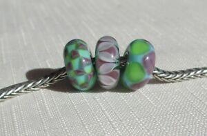 TROLLBEAD TROLLBEADS  3  matching beads Great Condition