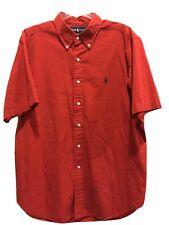 Polo Ralph Lauren Mens XL Red Short Sleeve Button Down Shirt