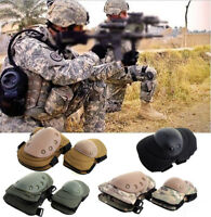 Military Tactical Combat QD Knee Support and Elbow Pads Set For Paintball Huntin