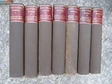 The Works of John Greenleaf Whittier 1892 Limited Edition Leather/Cloth 7 vol