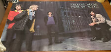 Vintage Talking Heads Fear Of Music Promo Poster 1979 Sire David Byrne