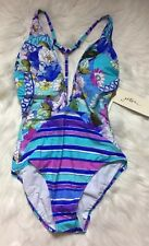 NEW NWT GOTTEX Women Samosir One-piece Swimsuit Floral Print SIZE 6