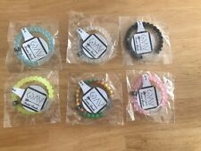 Large Genuine Lot Of 6 , Silicone Bracelet Greater Bands , Size