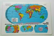 In Spanish! World & United States Desk Map Geography History Grade 2 3 4 5 6