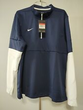 Nike Men's Knit 1/4 Zip Top Navy Lg