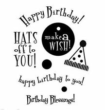My Sentiments Exactly Clear Stamp Set ~ BIRTHDAY Celebrate, Party  ~M103