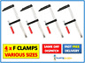 4 x Heavy Duty F Clamps Bar Clamp 150mm 200mm 300mm 600mm Quick Slide Wood Clamp