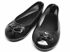 Black Flat Ballet Doll Shoes for 1/4 MSD BJD Minifee Resinsoul Withdoll