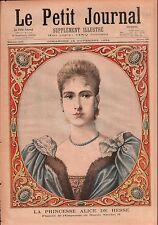 Portrait Princess Alice von Hesse Bride of Nicolas II Russia 1894 ILLUSTRATION
