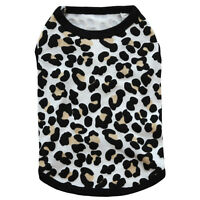 Leopard Small Dog Vest Soft Cotton Puppy Summer Tee shirts Pet T-Shirt Clothes