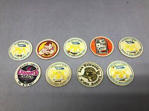 Haleakala Dairy Pogs Mixed Lot 9 Staple Rusty Milk Caps Hawaii Cardboard Vintage
