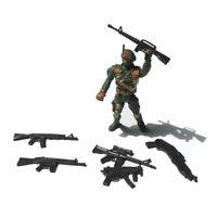 6Pcs 3.75'' DC Avengers X-Men Deadpool Figures Accessorie Weapon Gun Set