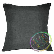Qh21a Middle Grey Linen Cotton Blend Style Cushion Cover/Pillow Case Custom Size