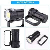 Plongée Lampe de poche 3.7V 28800Lm LED étanche photographie Lampe torche 80m