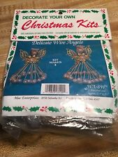 SEALED Merri Mac Delicate Wire Angels Christmas Ornament Kit WA-6W  4 Angels