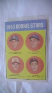 Carte de baseball de Pete Rose de 1963 rookie!Reprint!