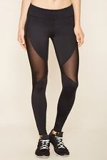 60% OFF! AUTH FOREVER 21 MESH-INSERT WORKOUT ACTIVE LEGGINGS LARGE BNEW US$19.90