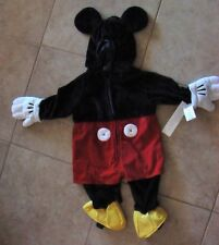 NWT DISNEY STORE MICKEY MOUSE VELOUR PLUSH COSTUME 6-12 MONTHS Baby/Toddler