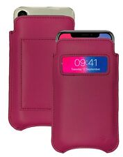 iPhone 11 Pro Case | iPhone Xs Case RED Leather NueVue SANITIZING Wallet Sleeve
