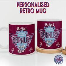 Burnley Mug Football Tea Coffee Diner Cup Retro Fan Personalised Gift DM16