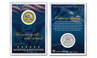 United States ARMY Emblem JFK Kennedy Half Dollar U.S. Coin with 4x6 Display