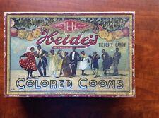 RARE HEIDE'S C C CHOCOLATE CANDY BOX. BLACK AMERICANA 1906