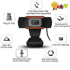 HD 720P Webcam with Microphone USB Computer Camera for Live Streaming Webcam