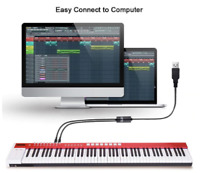Keyboard USB With 2 MIDI Interface Adapter Cable Converter For PC Music