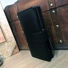 Sony XPERIA L1 autentico Grade uno Real Leather Wallet Folio Book Case Nero