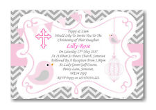 50 Personalised Girls Pink Christening Day ~Naming Day~Baptism Day Invitations z
