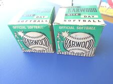 2 Vintage 1960's Official Hardwood No 100 Cn Nite and Day Softball with Box