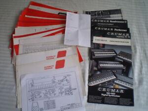 Lot of Crumar Schematics Bit 1, CPB1/2, DP5/30, OR15, T1-1B-1C-2-3, + see list