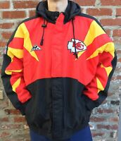 Vintage 90s Kansas City Chiefs NFL Pro Line Apex One Hooded Jacket XL Mahomes