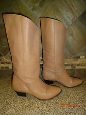 Vintage Womens Gemini Sz 6.5M Tan/Nude Leather Fashion Boots Brazil
