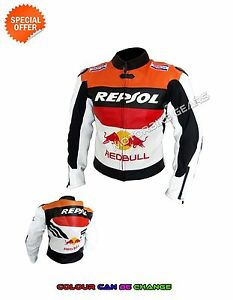 Racing armoured jacket repsol style red bull superbike jacket with speed hump