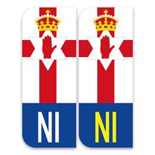 2 Northern Ireland flag NI badge Car Number Plate Vinyl Sticker UK self-adhesive