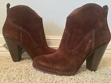 New FRYE Women's Madeline Short Brown Leather Suede Boots Sz 11 $348