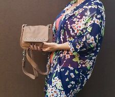Camel leather crossbody bag - women messenger -   trendy purse suri