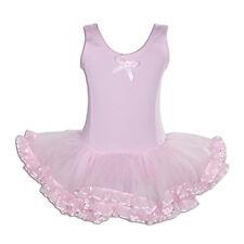 Girls Ballet Dress Dance Tutu Dress Pink Red White Blue 3 4 5 6 7 8 Years