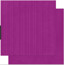 BoBunny 12x12 papel scrapbooking Doble Dot, uva Raya X 2 Hojas