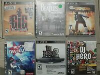 Playstation 3 PS3 Games Lot of 6 Music Bundle Tested & Complete with Manuals