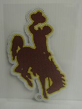 6-Inch Wyoming Cowboys Logo Perforated Vinyl Window Graphic