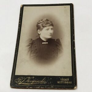 Vintage Cabinet Woman Posed Photo Photograph 1800's