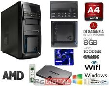PC DESKTOP AMD QUAD CORE WIFI 2 GHZ HD 1TB RAM 8GB HDMI + WINDOWS 7 PRO 64BIT