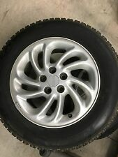 2 Lincoln Mark Series 1995 Factory Rims and Tires Blizzak WS-15 Tires 255 60R16